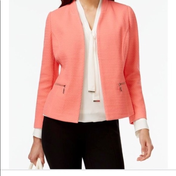 a2a78f4ffeae ALFANI Georgia Peach - Textured Blazer Size 12 NEW